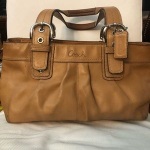 Authentic Coach Tan Satchel